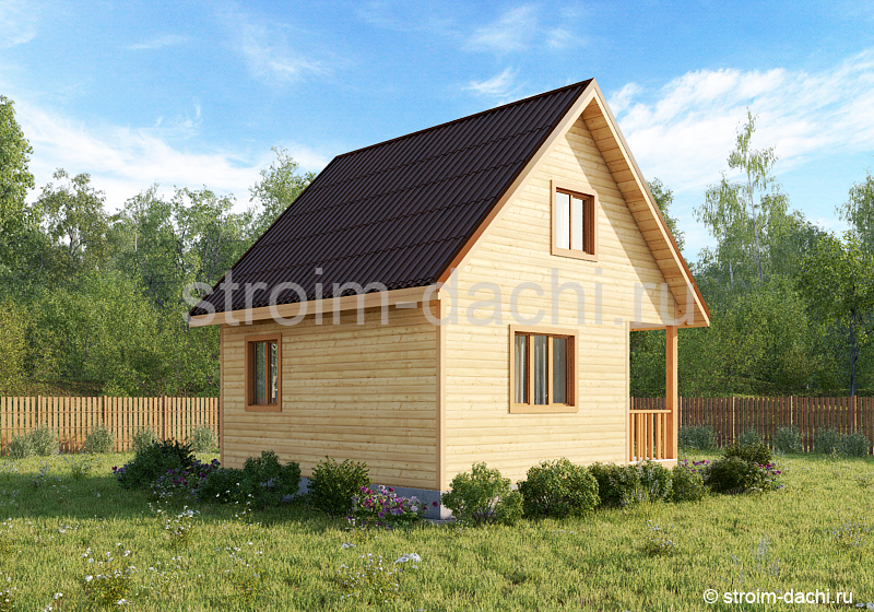 Дачные дома из бруса: проекты и строительство
