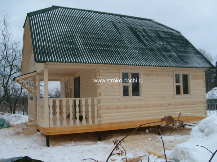 Каркасный дом с вальмовой крышей