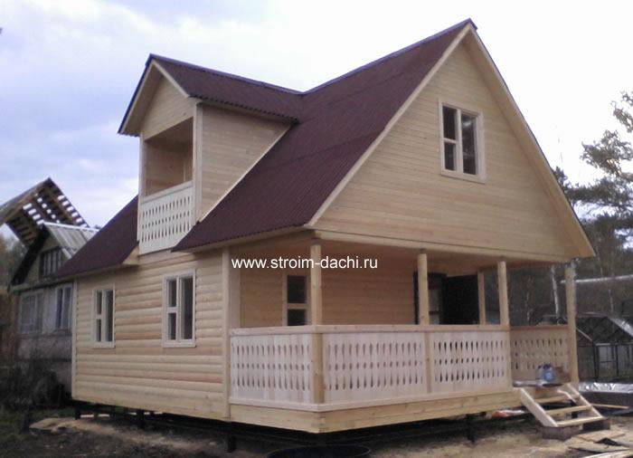 Дом из бруса 6x8 своими руками