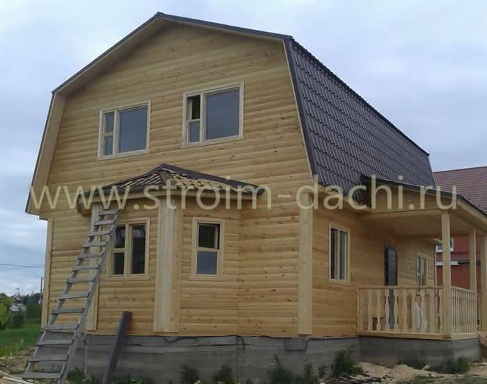 Проекты домов из бруса с мансардой