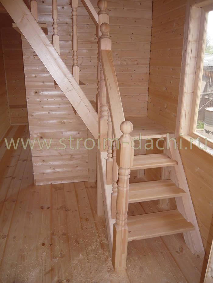 Лестница на второй этаж дачного дома своими руками